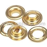 "GRO2R Grommet (Brass) Plain Washers #2  3/8""  144 Pcs. (PER BOX)"