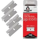 RB100 Razor Blades, Single Edge 100 Pcs. (PER BOX)