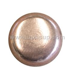 These copper plated flat finish quality steel nails have a 1/2-inch long shank and a head diameter of 1/2-inch.