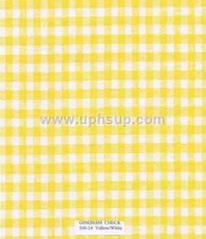 "FBT500-24 Fleece-Back Vinyl Ging Ck Yellow Table Cloth 54"" (PER YARD)"