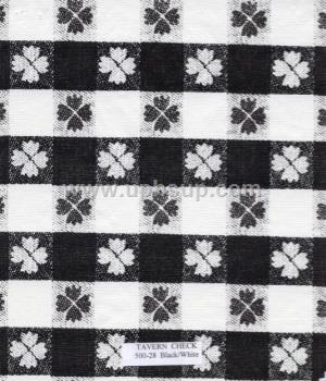 "FBT500-28 Fleece-Backed Vinyl Tavern Check Black/white 54"" (PER YARD)"