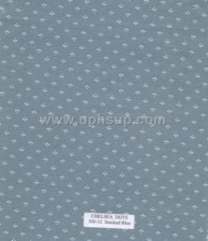 "FBT500-32 Fleece-Backed Vinyl Chelsea Dots Smoked Blue 54"" (PER YARD)"