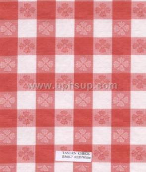 "FBTB500-7 Fleece-Back Vinyl Tav Ck Red Table Cloth 54"" (PER YARD)"