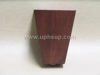 FURL22WSQT Furniture Legs, Wood Tapered Dk. Walnut Finish (EACH)
