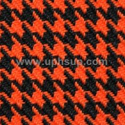 "HTF02 Fabric Houndstooth #02-7298926 Orange/Black 57"" (PER YARD)"