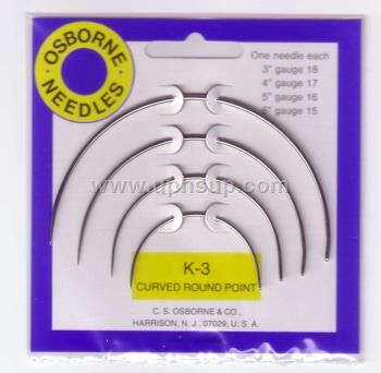 "NECK3 Needle 3"", 4"", 5"", 6"" Curved Round Point (PER PACK)"
