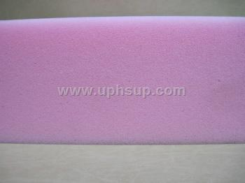 "JK07024083 Foam # 1845 Quality Firm (Pink)  7"" x 24"" x 83"""